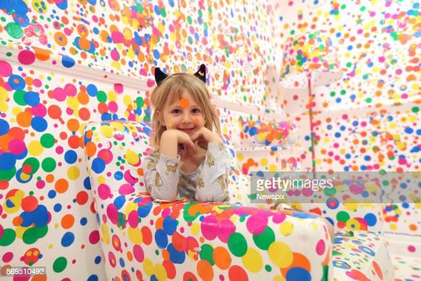 BRISBANE QLD Heidi Hill enjoys the 'Obliteration Room' by Yayoi Kusama at the Queensland Gallery Of Modern Art in Brisbane Queensland