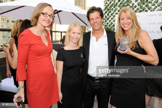 Heidi Hovland Dawn Lengeland Chris Shepard and Jen Lamoureux attend Via Spiga 25th Anniversary Event at Empire Hotel Rooftop on August 2 2010 in New...