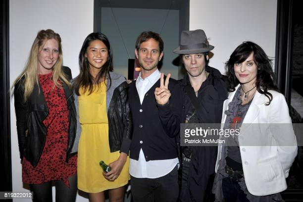 Heidi Kelso Ying Yue Li Peter Makebish Michael H and Samantha Keely Smith attend IN DIALOGUE CURATED BY PETER MAKEBISH HOSTED BY ANONYMOUS GALLERY at...