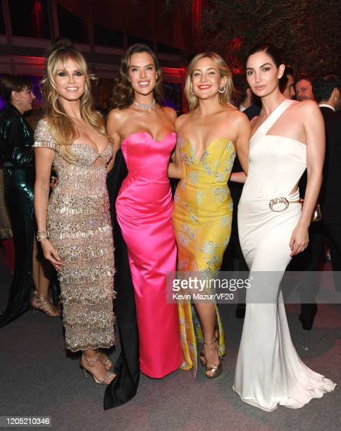 Heidi Klum Alessandra Ambrosio Kate Hudson and Lily Aldridge attend the 2020 Vanity Fair Oscar Party hosted by Radhika Jones at Wallis Annenberg...