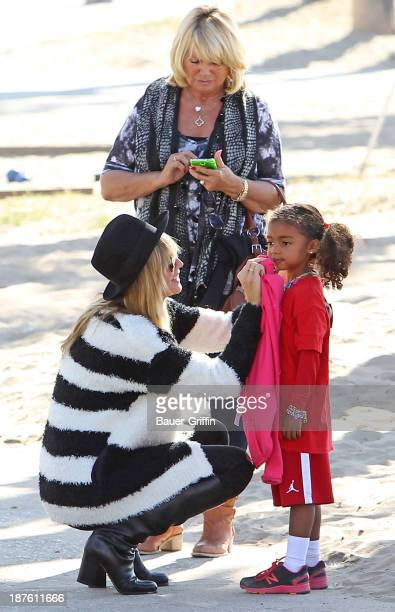 Heidi Klum along with her mother Erna Klum and daughter Lou Samuel are seen on November 10 2013 in Los Angeles California