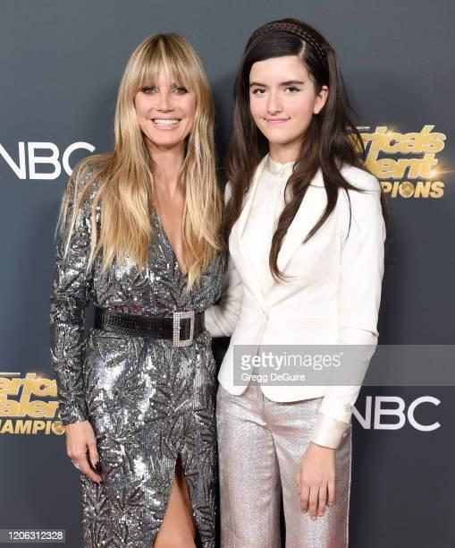 Heidi Klum and Angelina Jordan attend the Premiere Of NBC's America's Got Talent The Champions Season 2 Finale at Sheraton Pasadena Hotel on October...