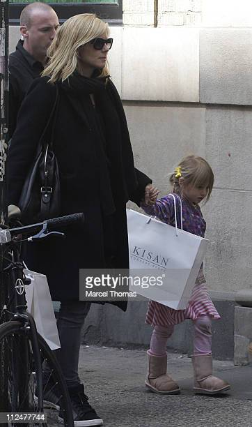 Heidi Klum and daughter Helene Leni Klum walk through the streets of Manhattan on April 16 2009 in New York City