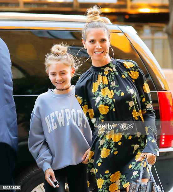 Heidi Klum and daughter Leni are seen on June 12 2017 in New York City