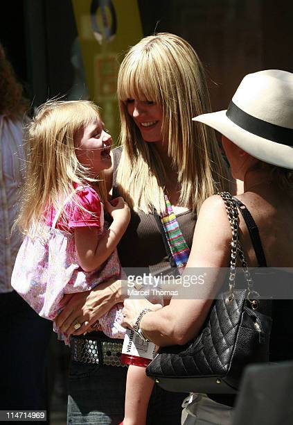 Heidi Klum and daughter Leni during Heidi Klum and Family Sighting in SOHO June 16 2007 at SOHO in New York City New York United States