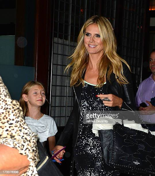 Heidi Klum and daughter Leni seen on the streets of Manhattan on July 12 2013 in New York City