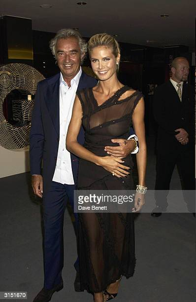 Heidi Klum and Flavio Briatore attend the GQ Magazine of The year Awards 2003 in the Floral Hall at the Royal Opera House in Covent Garden on...
