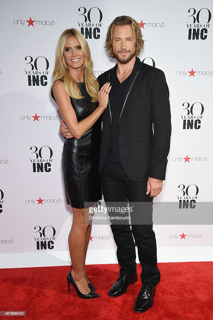 Heidi Klum and Gabriel Aubry attend Heidi Klum + Gabriel Aubry's celebration of the launch of INC's 30th Anniversary Collection at IAC Building on September 10, 2015 in New York City.