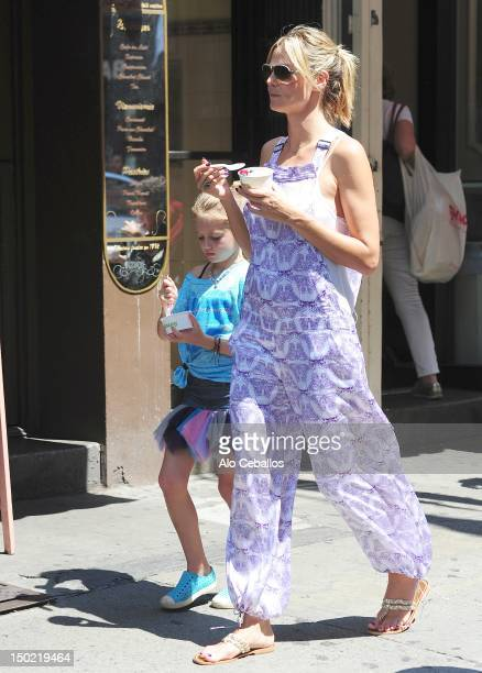 Heidi Klum and Helene Boshoven Samuel are seen in soho at Streets of Manhattan on August 12, 2012 in New York City.
