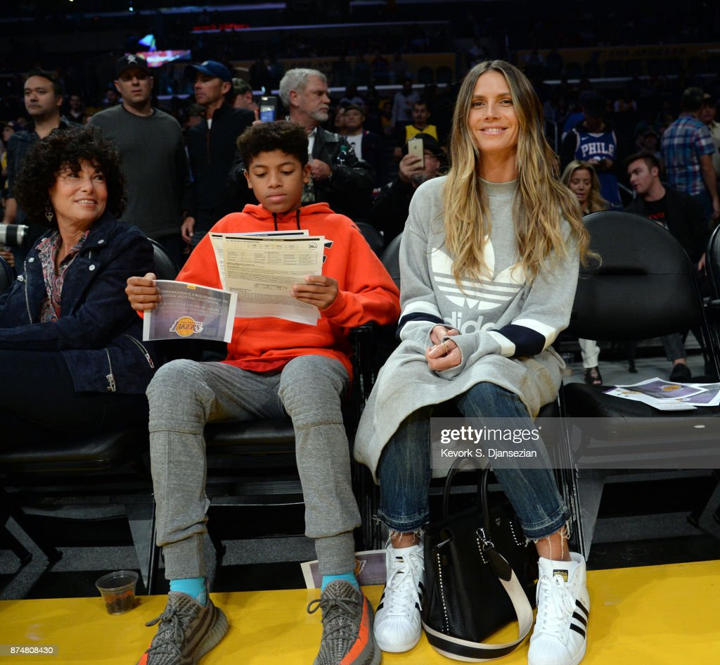Meanwhile, Heidi Klum & son Henry did their own basketball-bonding at the Lakers & 76ers game.