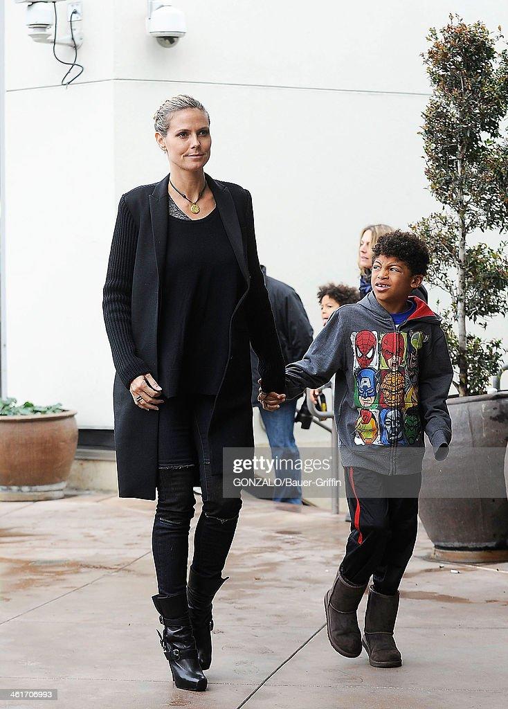 Heidi Klum and Henry Samuel sighting on December 29, 2012 in Los Angeles, California.
