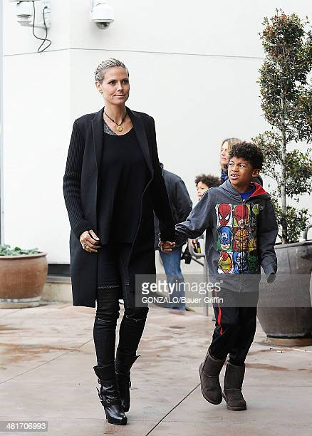 Heidi Klum and Henry Samuel sighting on December 29 2012 in Los Angeles California