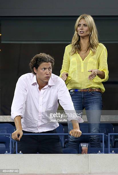 Heidi Klum and her boyfriend Vito Schnabel attend Day 8 of the 2014 US Open at USTA Billie Jean King National Tennis Center on September 1 2014 in...
