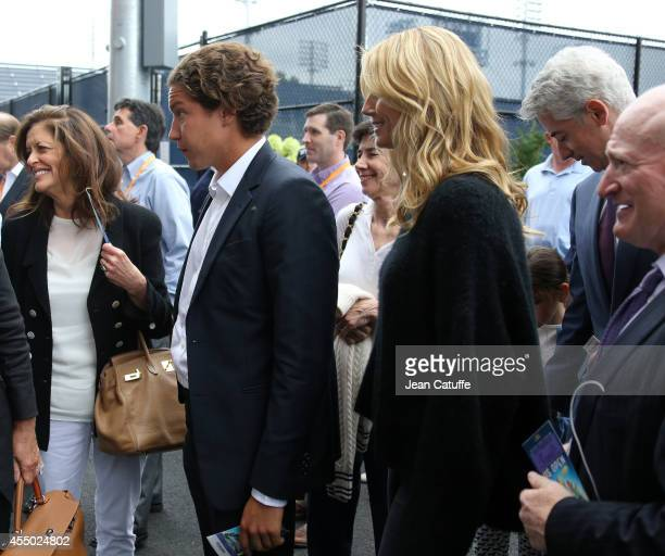 Heidi Klum and her boyfriend Vito Schnabel attend the men's final on Day 15 of the 2014 US Open at USTA Billie Jean King National Tennis Center on...