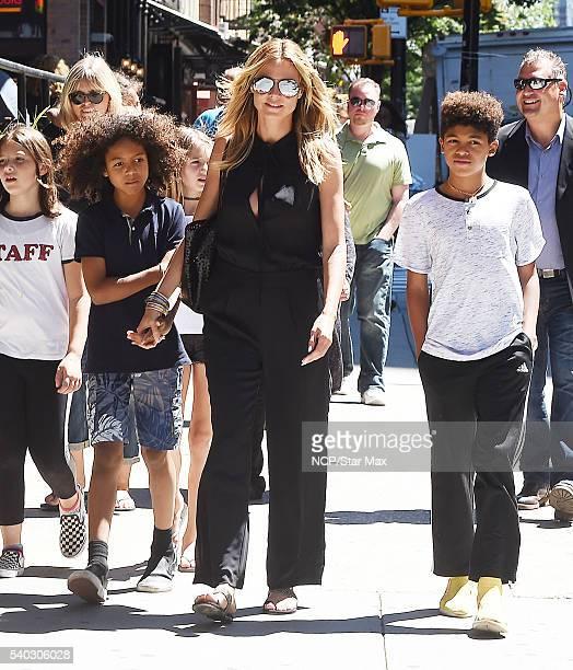 Heidi Klum and her children are seen on June 14 2016 in New York City