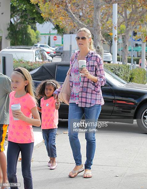 Heidi Klum and her children Lou Samuel Henry Samuel and Leni Samuel are seen on August 31 2013 in Los Angeles California