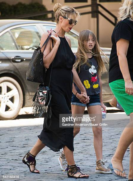 Heidi Klum and her daughter Leni are seen on June 22 2016 in New York City