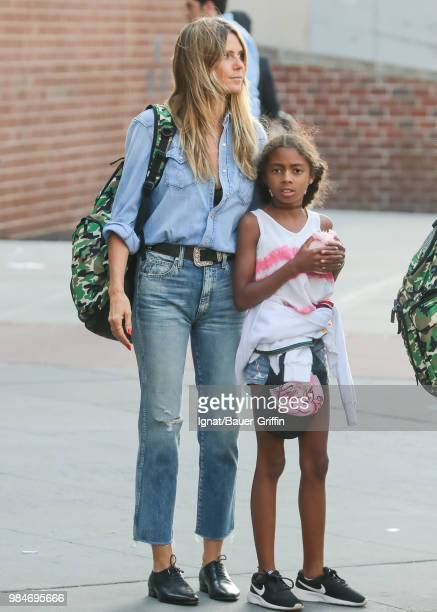 Heidi Klum and her daughter Lou are seen on June 26 2018 in New York City