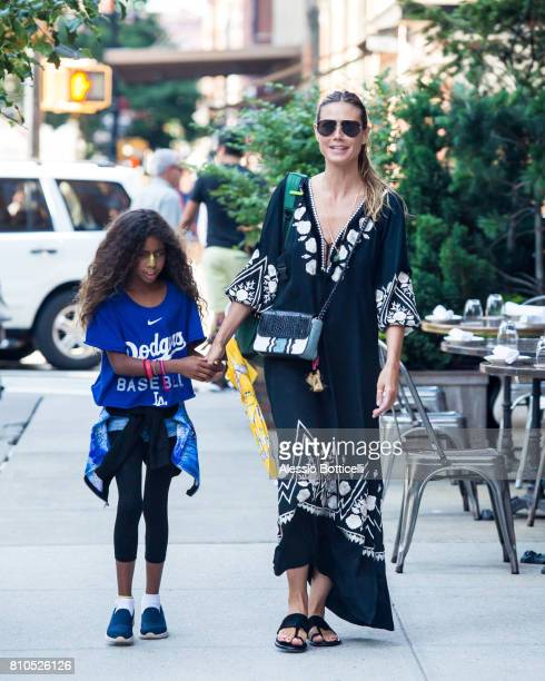 Heidi Klum and her daughter Lou Samuel seen in TriBeCa on July 7, 2017 in New York City