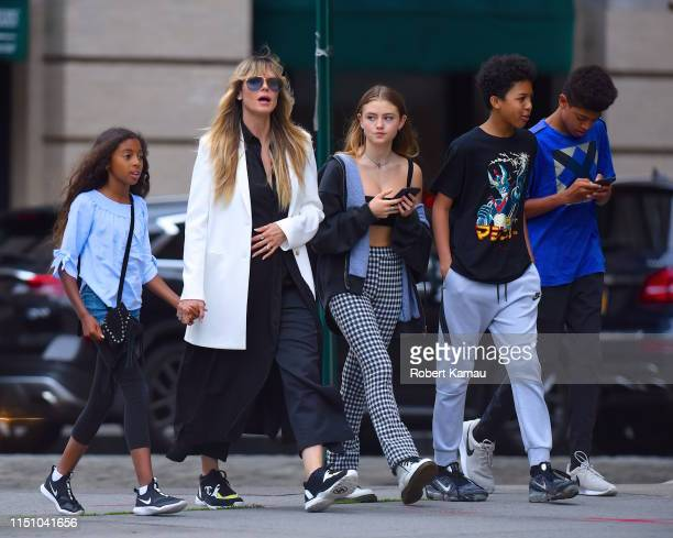 Heidi Klum and her kids seen out and about in Manhattan on June 19 2019 in New York City