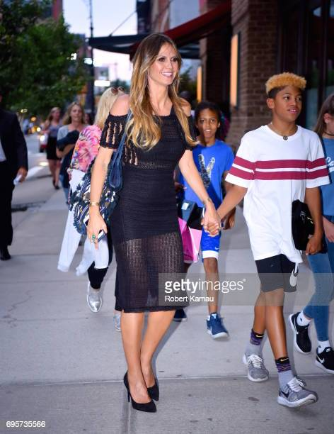 Heidi Klum and her kids seen out in Manhattan on June 13 2017 in New York City