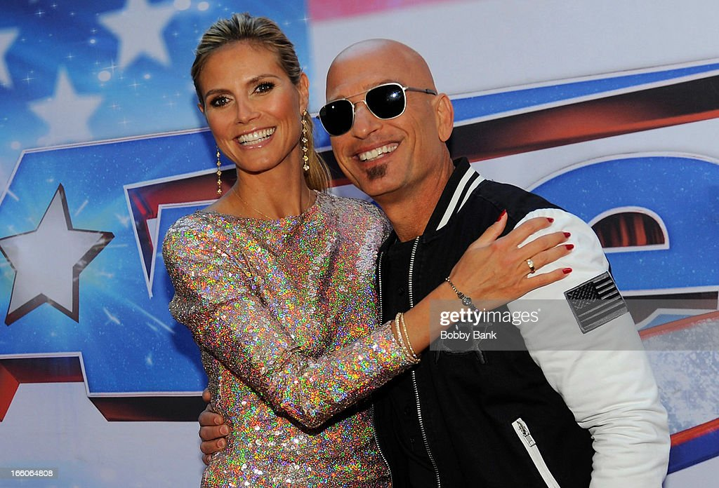 Heidi Klum and Howie Mandel attends the 'America's Got Talent' New York Auditions at Rockefeller Center on April 8, 2013 in New York City.