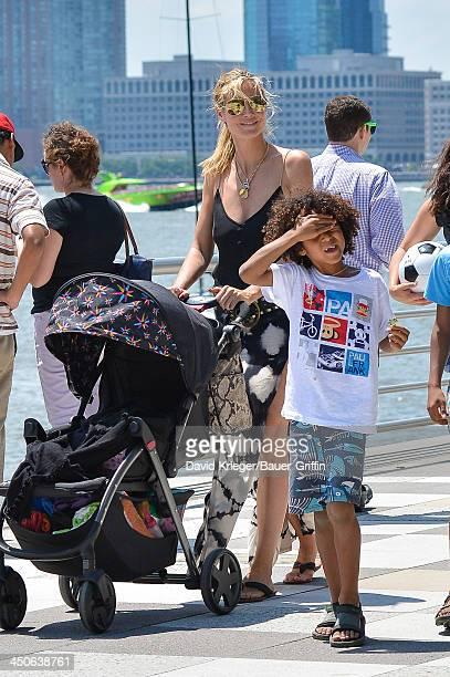 June 21: Heidi Klum and Johan Samuel are seen on June 21, 2013 in New York City.