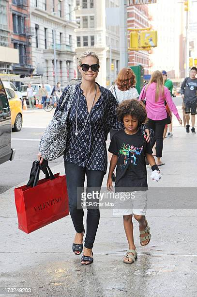 Heidi Klum and Johan Samuel as seen on July 10, 2013 in New York City.
