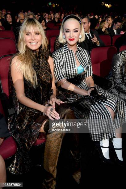 Heidi Klum and Katy Perry at the 2019 iHeartRadio Music Awards which broadcasted live on FOX at Microsoft Theater on March 14 2019 in Los Angeles...