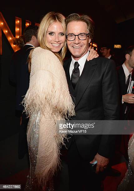 Heidi Klum and Kyle MacLachlan attend the 2015 Vanity Fair Oscar Party hosted by Graydon Carter at the Wallis Annenberg Center for the Performing...