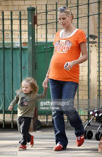 Heidi Klum and Leni during Heidi Klum Sighting In West Village September 11 2006 at West Village in New York City New York United States