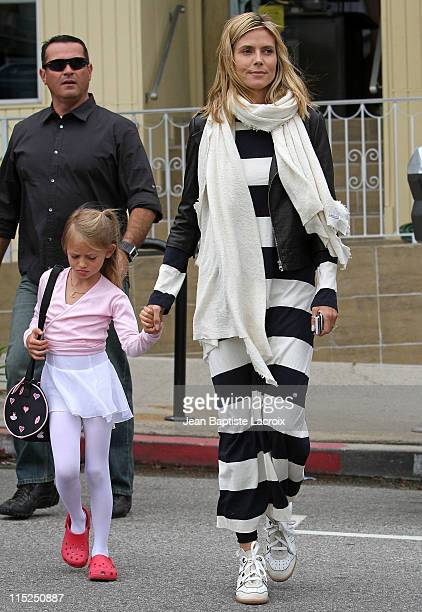 Heidi Klum and Leni Samuel are seen in Brentwood on June 4 2011 in Los Angeles California