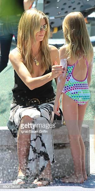June 21: Heidi Klum and Leni Samuel are seen on June 21, 2013 in New York City.