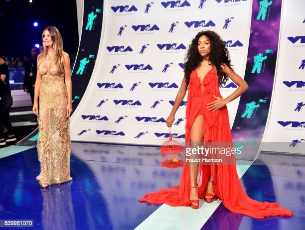 Heidi Klum and Lil Mama attend the 2017 MTV Video Music Awards at The Forum on August 27 2017 in Inglewood California