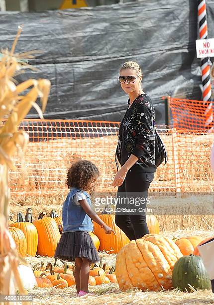 Heidi Klum and Lou Samuel are seen at the Mr. Bones pumpkin patch on October 06, 2012 in Los Angeles, California.
