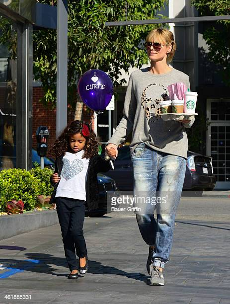 Heidi Klum and Lou Samuel are seen on January 11 2014 in Los Angeles California