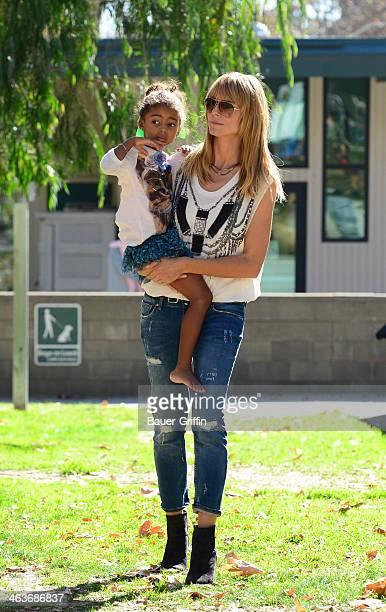 Heidi Klum and Lou Samuel are seen on January 18 2014 in Los Angeles California