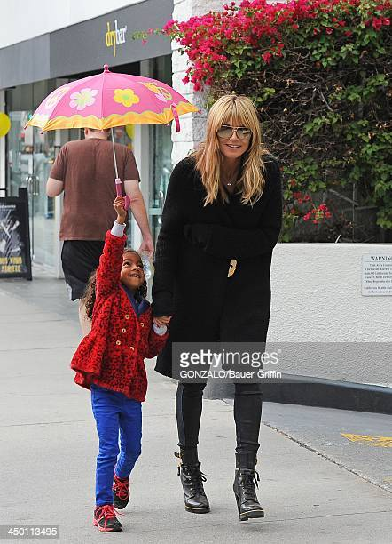 Heidi Klum and Lou Samuel are seen on November 16, 2013 in Los Angeles, California.