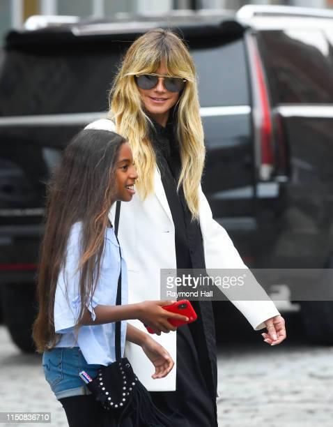 Heidi Klum and Lou Sulola Samuel are seen on June 19 2019 in New York City
