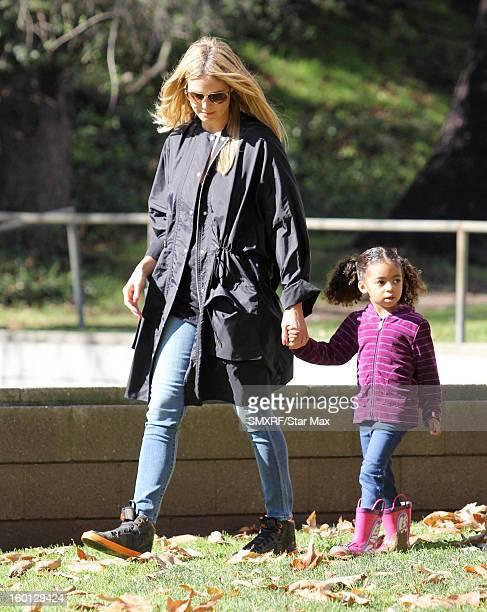 Heidi Klum and Lou Sulola Samuel as seen on January 26 2013 in Los Angeles California