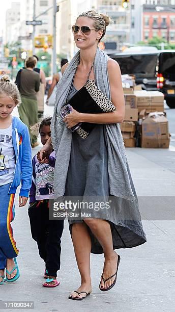 Heidi Klum and Lou Sulola Samuel as seen on June 21 2013 in New York City
