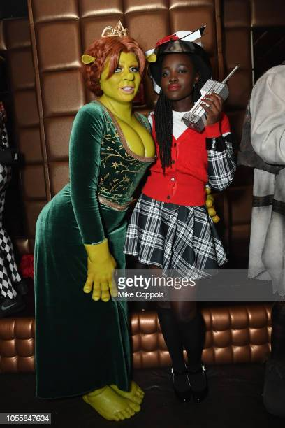 Heidi Klum and Lupita Nyong'o attend Heidi Klum's 19th Annual Halloween Party presented by Party City and SVEDKA Vodka at LAVO New York on October 31...