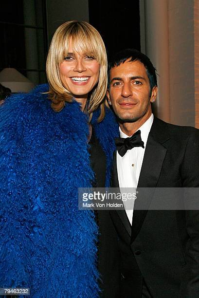 Heidi Klum and Marc Jacobs attends the after party for the Cinema Society and W magazine's Special Screening of Marc Jacobs Louis Vuitton on January...