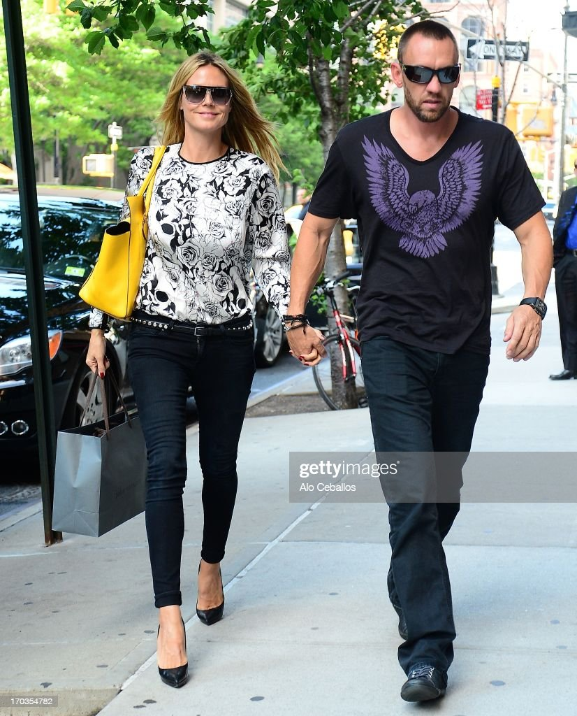 Heidi Klum and Martin Kristen are seen in Tribeca on June 11, 2013 in New York City.
