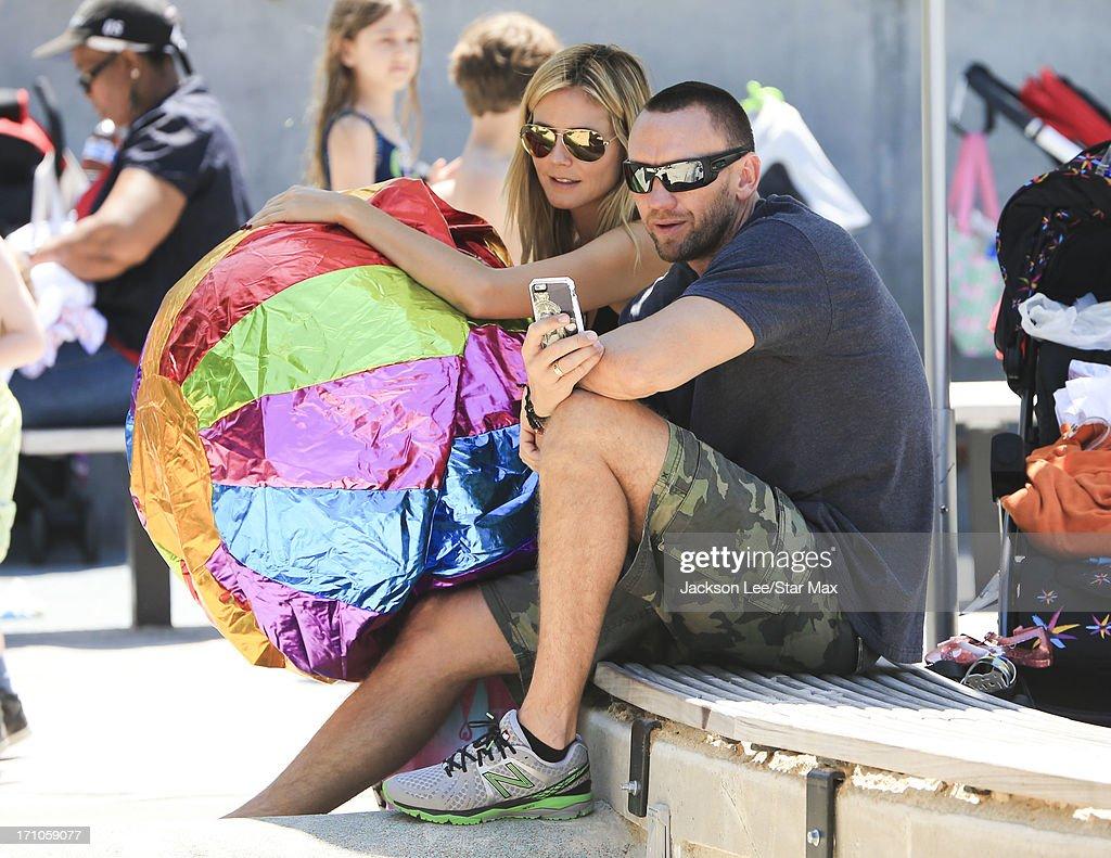 Heidi Klum and Martin Kristen are seen on June 20, 2013 in New York City.