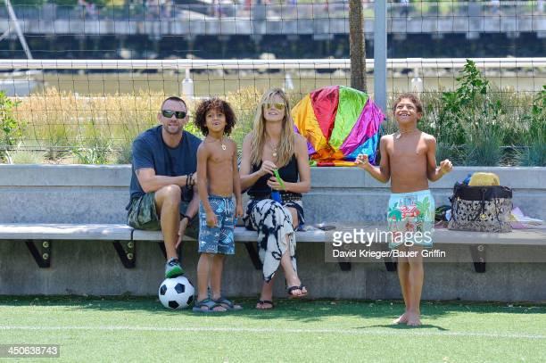 Heidi Klum and Martin Kristen with her children Henry Samuel Johan Samuel are seen on June 21 2013 in New York City