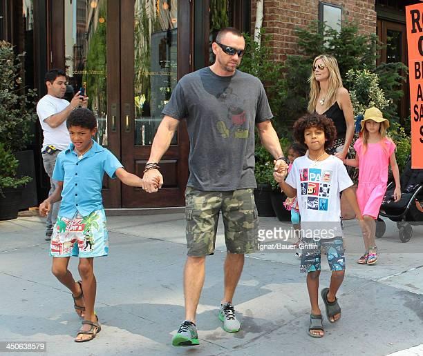 June 21: Heidi Klum and Martin Kristen with her children Leni Samuel, Henry Samuel and Johan Samuel are seen on June 21, 2013 in New York City.