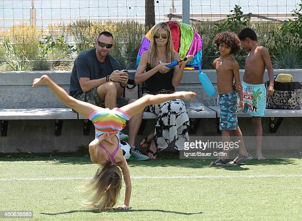 June 21: Heidi Klum and Martin Kristen with her children Leni Samuel, Henry Samuel, Johan Samuel are seen on June 21, 2013 in New York City.