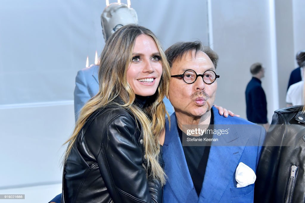 Heidi Klum and Michael Chow attend Mr Chow 50 Years on February 16, 2018 in Vernon, California.