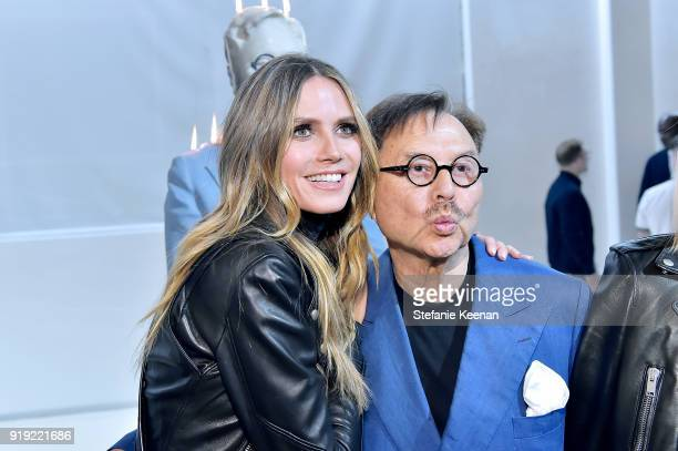 Heidi Klum and Michael Chow attend Mr Chow 50 Years on February 16 2018 in Vernon California